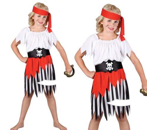 High Seas Pirate principessa Costume Caraibi LIBRO giorno Ragazze Nuovo