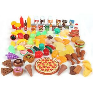 Play Food Set For Kids Toy Pretend 125 Piece Kitchen Ebay