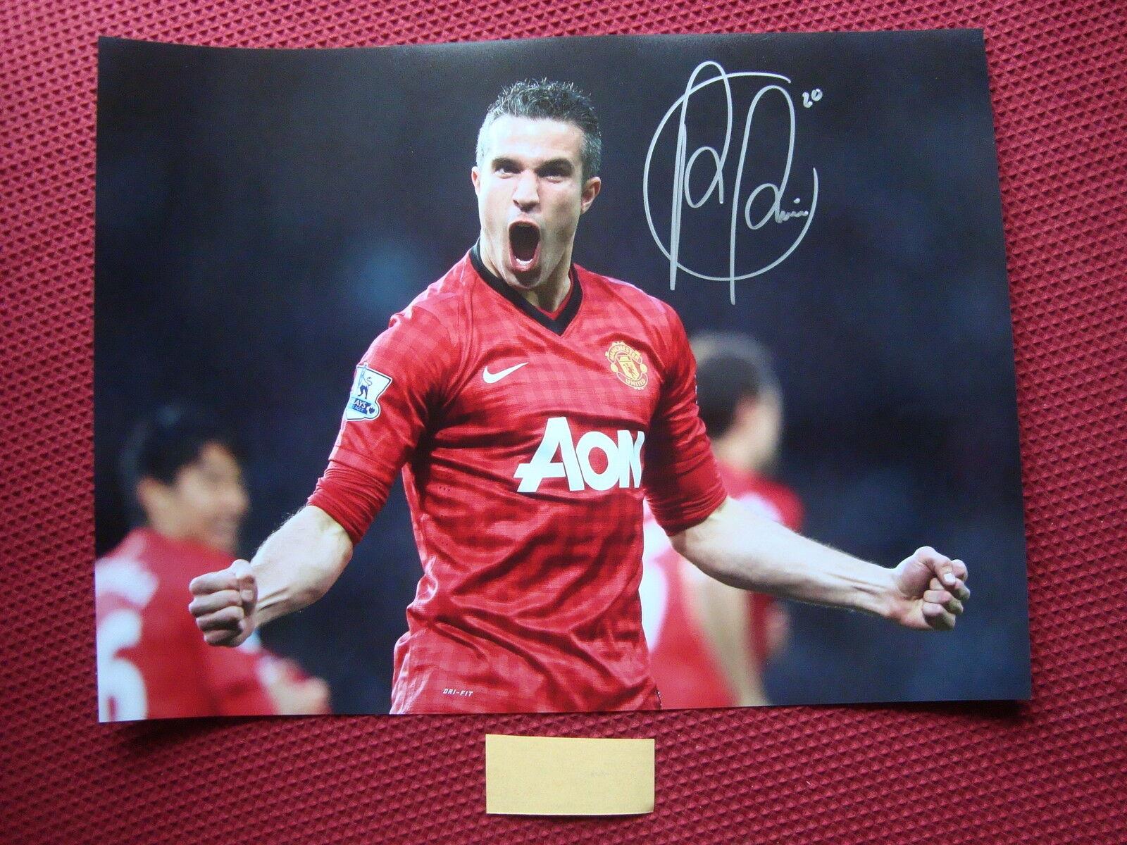 Manchester United Robin van Persie Firmado Foto Foto Foto 16 x12  - a prueba de foto exacta 8b59bf