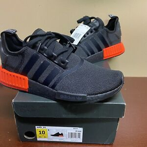 Ee5107 Adidas Men S Nmd R1 Shoes Core Black Solar Red Size 10