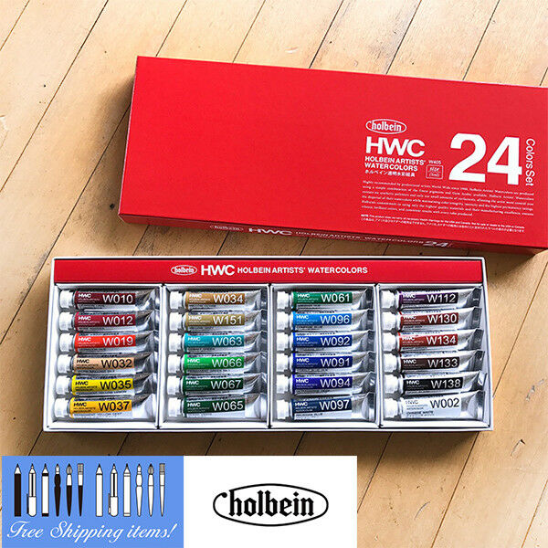 Holbein W405 Transparent watercolors 5ml x 24 colors set [NEW] form JAPAN