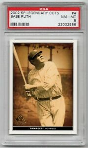 PSA-8-NEAR-MINT-MINT-2002-SP-Legendary-Cuts-4-Babe-Ruth-New-York-Yankees-POP-1