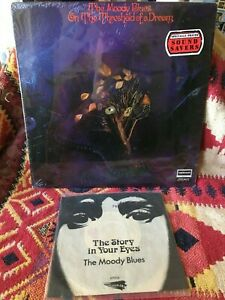 THE MOODY BLUES VINYL on the threshold of a dream LP SEALED +45 Story In Ur Eyes