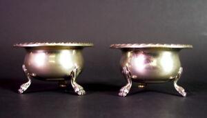 paar Gewürzsalieren mit Glaseinsatz - 800er Silber mit geschliffenen Glas