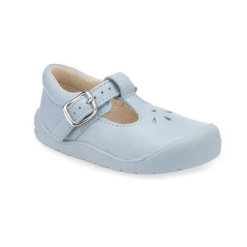 Start-Rite Girls Toddlers First Evy First Shoes Light Blue