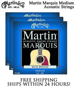 3 Sets Martin Marquis M1200 Acoustic Guitar Strings