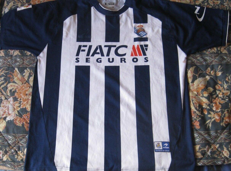 Camiseta Shirt Maglia Maillot REAL SOCIEDAD Astore ERREALA Season 2005 Dimensione XL