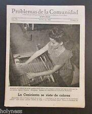 FIVE VINTAGE MAGAZINE LOT / DEPT DE INSTRUCCION PUBLICA / PUERTO RICO 1948 - 50