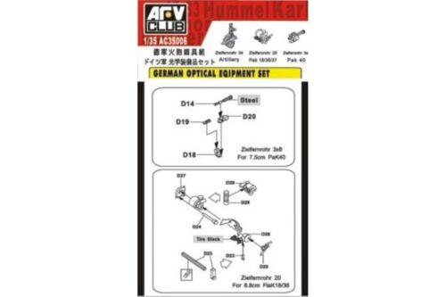AFV Club AFAC35006 1//35 German Optical Equipment Set