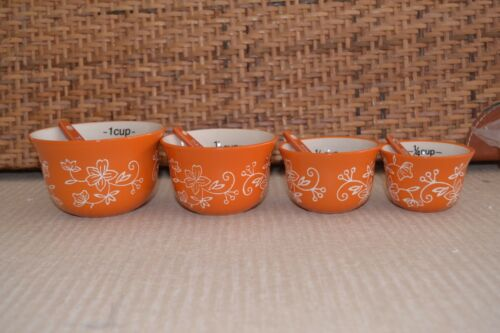 Temp-tations Measuring Cups /& Spoon Set Nesting Cup Old World Floral Lace K42701