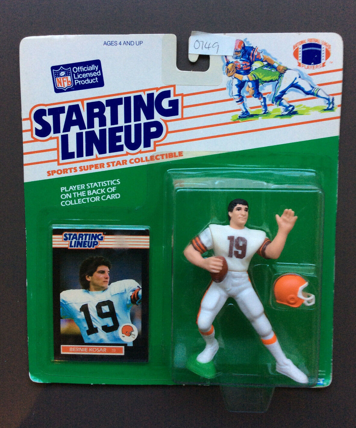 BERNIE KOSAR 1989 Starting Lineup Figure Cleveland Browns NFL Football NEW