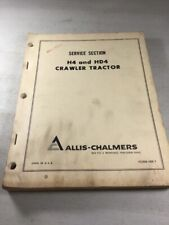 Allis Chalmers H4 Amp Hd4 Crawler Dozer Parts Catalog Manual
