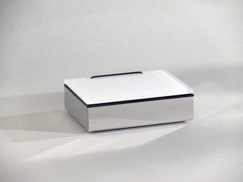 Feuchttuchbox Feuchttücherbox Glas weiß Schönbeck Design  Made in Germany