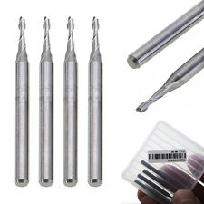 5X Solid Carbide 2mm Dia Spiral 2 Flutes Flat Nose End Mill CNC Engraving Bit