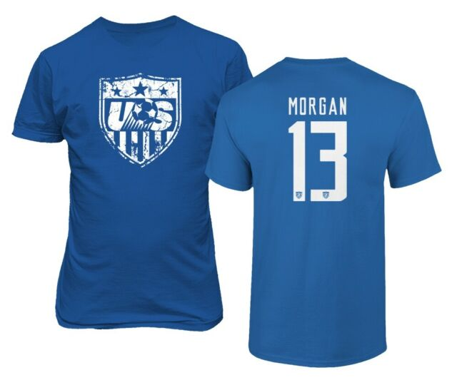 purchase cheap 44b92 c5294 New Soccer Shirt America USA National Team #13 Alex MORGAN Men's T-shirt