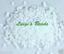15/0 Round TOHO Japanese Glass Seed Beads #41-Opaque White 10 grams