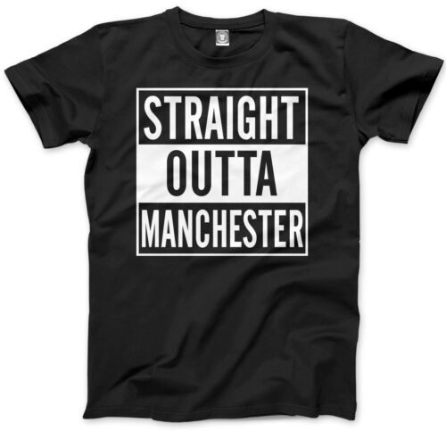 Straight Outta Manchester Dre Compton Gift England Unisex Mens T-Shirt