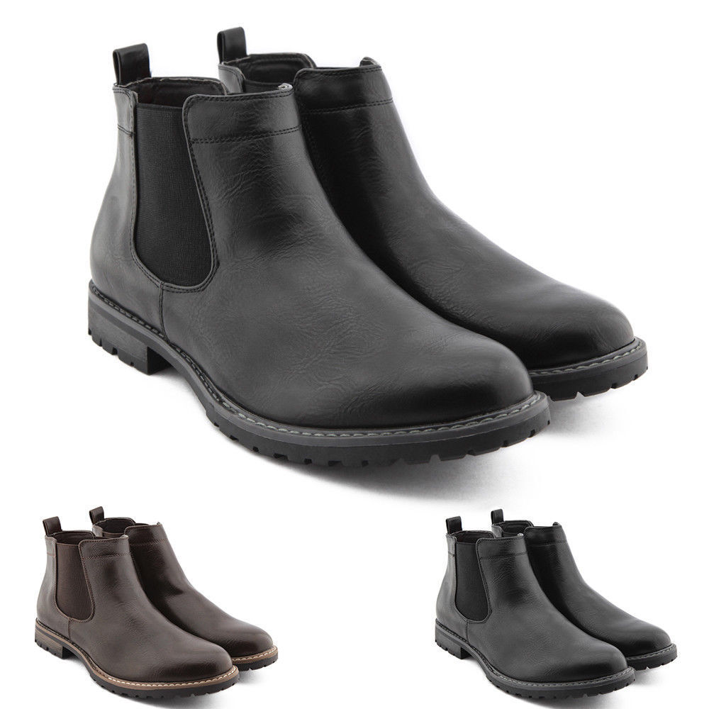 Stivaletti men women Stivali shoes Pelle PU Chelsea Anfibi Scarponcini s109
