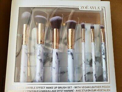 zoe ayla cosmetics makeup brush set 7 piece marble effect