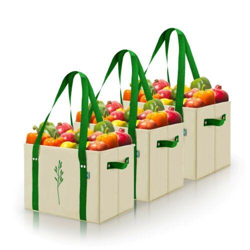 Set of 3 Reusable Grocery Box Bags