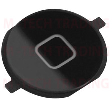 NEW 2 X REPLACEMENT FOR IPHONE 4 4G BLACK OUTER HOME MENU BUTTON PART