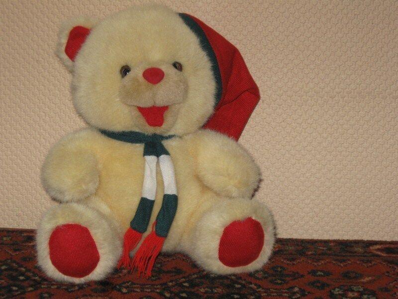 Christmas Teddy Bear Holland Musical Moving Mouth Jingle Bells
