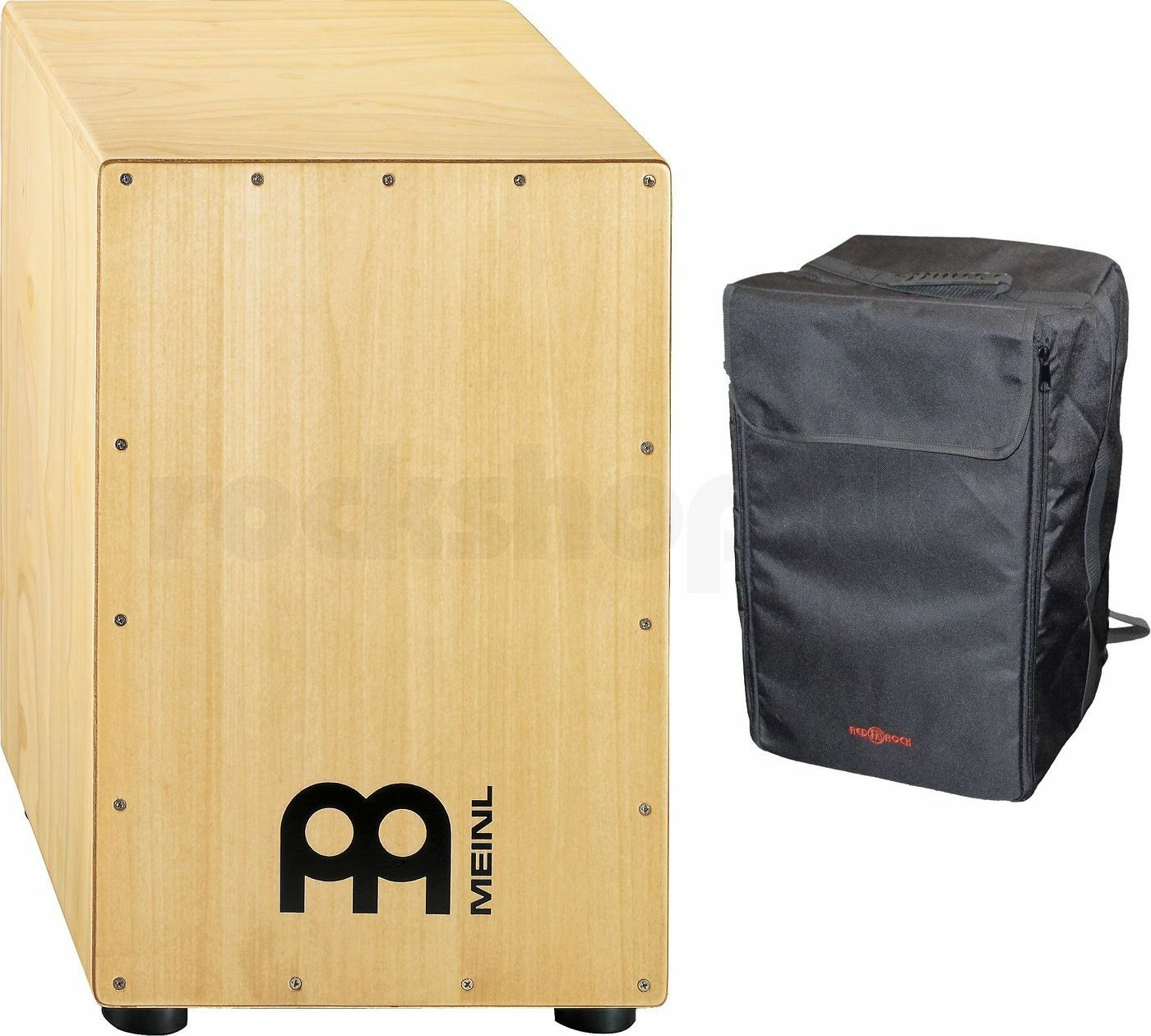Meinl HCAJ1NT Headliner Rubber Wood Cajon Percussion mit Tasche - SET NEU