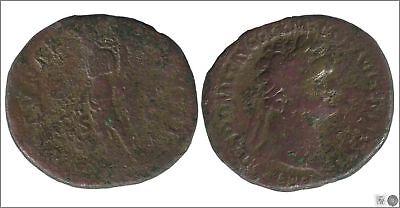 Dashing Empire Roman Dupondio Domitian 81-96 Dc Cos Xiiii Fortu Top Watermelons A R
