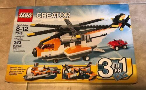 LEGO Creator Transport Chopper 7345 3 in 1 383 pcs Set NEW factory sealed