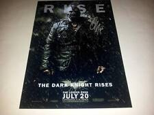 "DARK KNIGHT RISES PP SIGNED 12X8"" POSTER BATMAN BANE TOM HARDY"