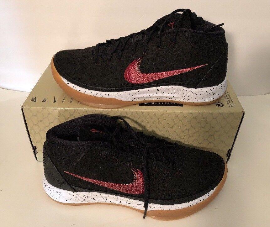 Nike kobe metà chewingum nero marrone chiaro vela 922482-006 Uomo basket sz 10