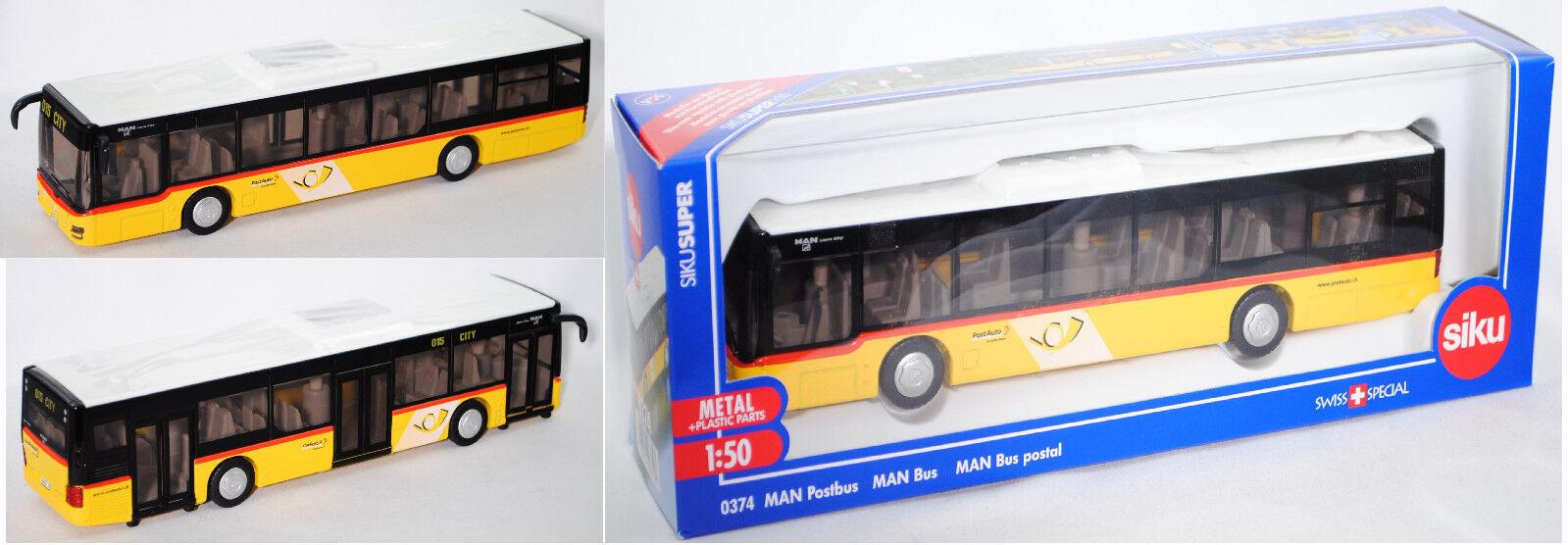 SIku Super 3747 03902 Stadtbus MAN Lions City DIE POST, 1 50, OVP
