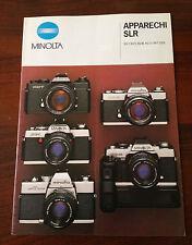 D13  Brochure Minolta Apparecchi SLR XD-7, XD-5, XG-1 e SR-T 1000X