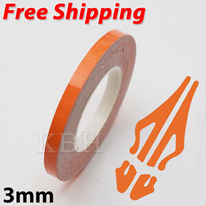 3mm-Self-Adhesive-Coach-Line-Pin-Stripe-Vinyl-Craft-Tape-Sticker-1-8-034-ORANGE