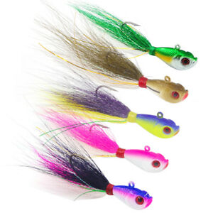 Bucktail-Jigs-Teaser-Lead-Jigging-Lure-3D-Eyes-Saltwater-Fishing-Lures-7-56g