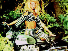 1968 TRIUMPH BONNEVILLE MOTORCYCLE AD-VINTAGE SEXY/650 cc engine/poster/sign