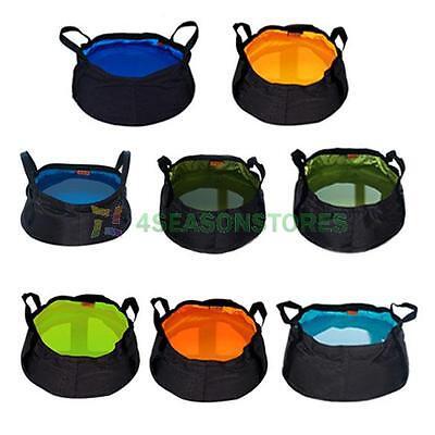 Portable 8.5L Folding Washbasin Bucket Wash Basin Foldable Camping Water Pot