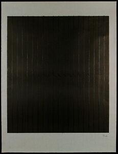 Farbfeldmalerei-034-Reliefbild-034-1986-Holzschnitt-Rolf-ROSE-1933-D-handsigniert