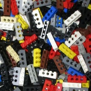 Used-LEGO-500g-Packs-Technic-Bricks-3701-Technic-Stein-1-x-4-mit-Loeche