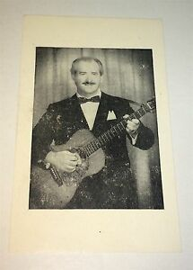 Vintage-American-Musician-Advertising-Trade-Business-Card-Lion-amp-His-Guitar