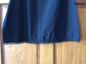 FIELD GEAR EBONY SIZE LARGE SKIRT NWT BEADS AT BOTTOM VERY UNIQUE