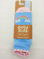 Life Is Good Youth No Show Cotton Socks Large Rainbow Free Shipping