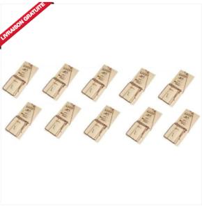 LOT-10-TAPETTES-PIEGE-A-SOURIS-SOCLE-BOIS-LUCIFER-Fabrication-francaise