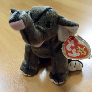 1b65e9a7c33 Image is loading Ty-Beanie-Babies-Trumpet-The-Elephant-Mint-With-