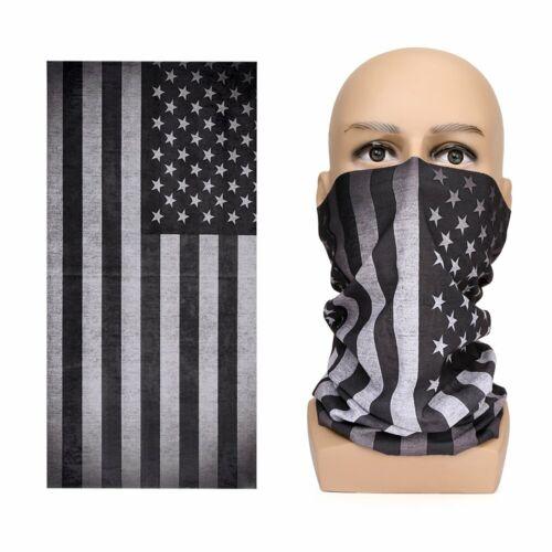 USA Face Balaclava US Blackout Flag Scarf Neck Shield Headband Gaiter Headwear