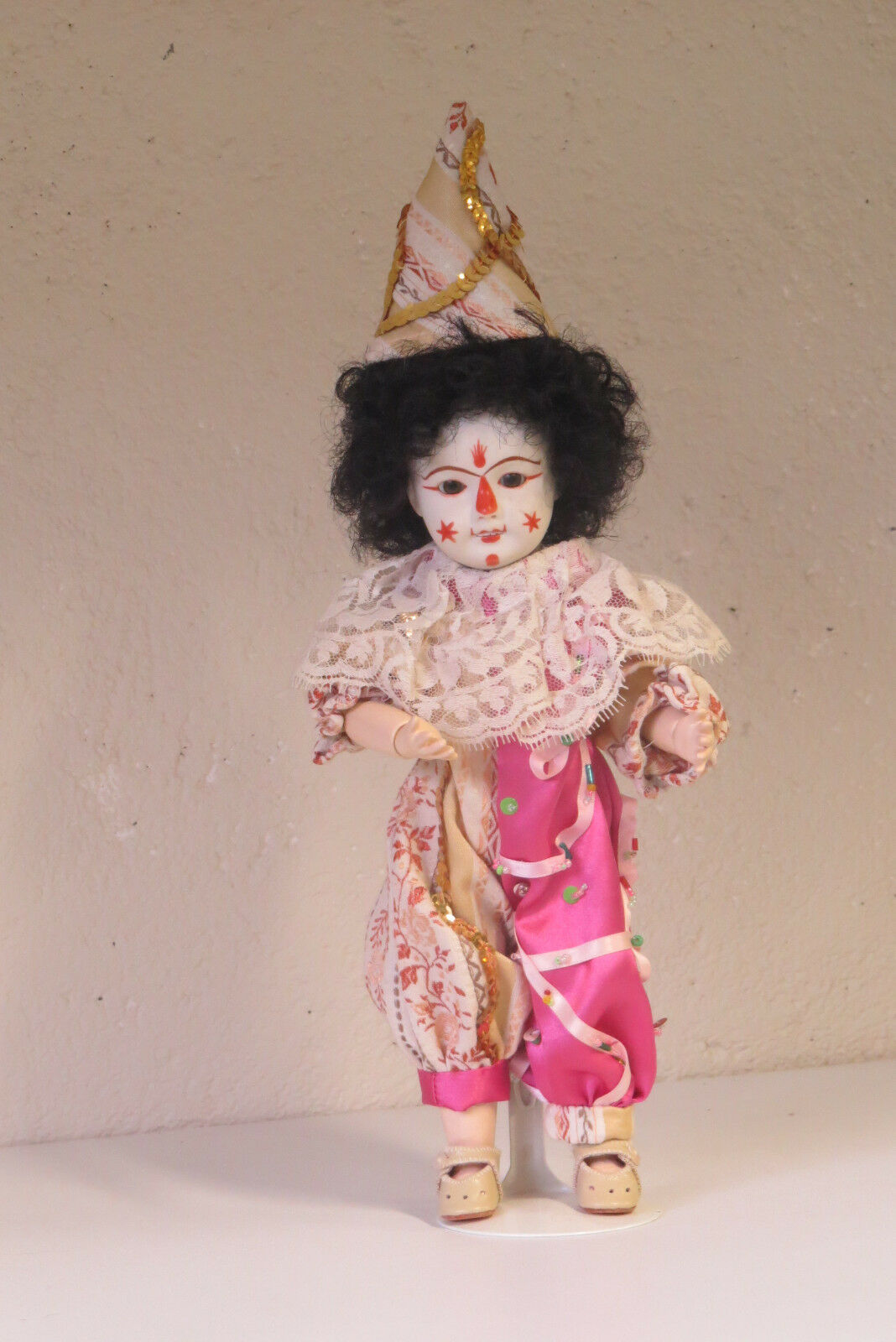 azulette 301 Clown Ref   H    29 cm  Poupée Ancienne Reproduction  Antique  Doll