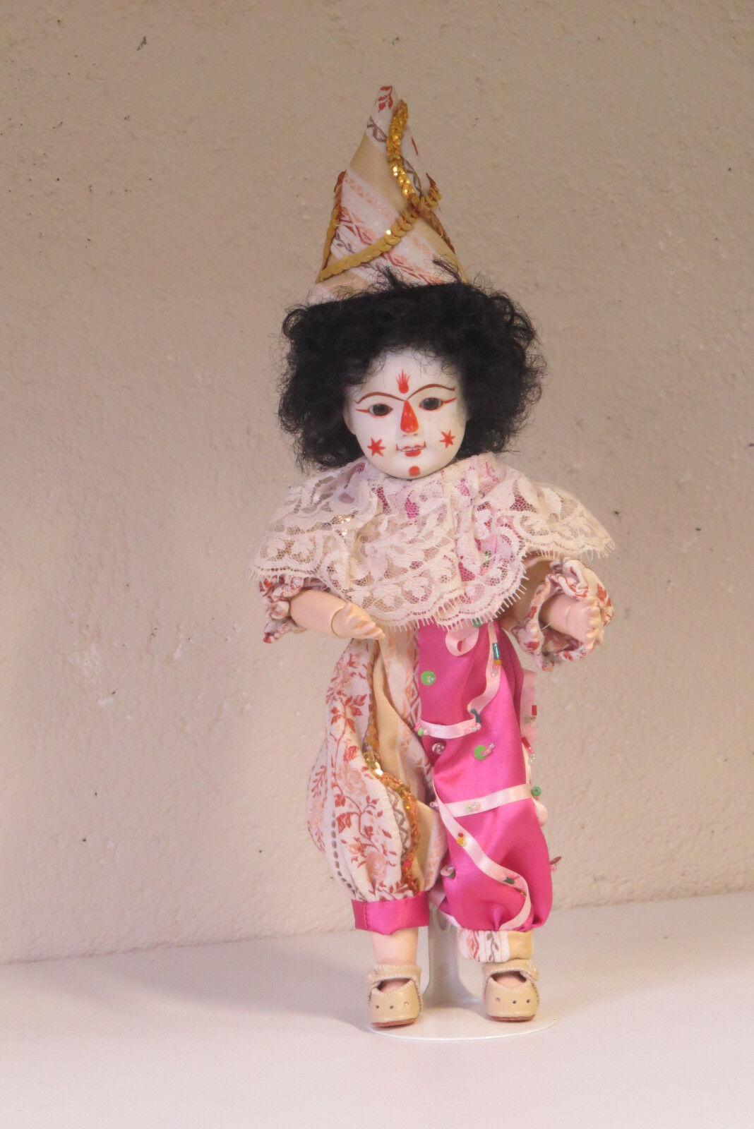 Blauette 301 Clown Ref   H    29 cm  Poupée Ancienne Reproduction  Antique  Doll