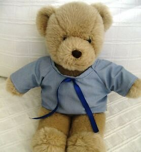Teddy-Bear-Clothes-Handmade-Dean-Blue-and-White-Finestriped-School-Style-Shirt
