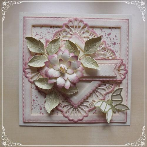 Lace Frame Metal Cutting Dies Scrapbook Embossing Album Paper Card Craft Decor