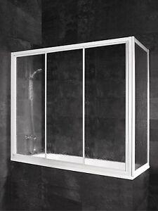 SCHULTE Badewannenaufsatz Badewannenduschwand Komfort Schiebetür Seitenwand